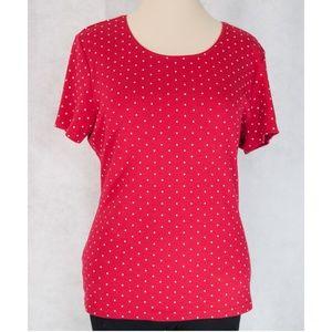 Red dotted tee by Karen Scott (Macy's) sz XL